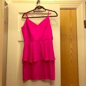 Amanda Uprichard Peplum Pink Dress